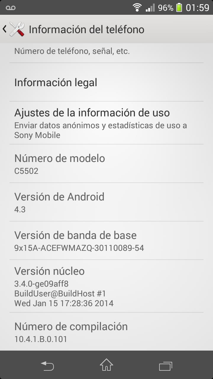10.4.1.B.0.101 Xperia ZR firmware