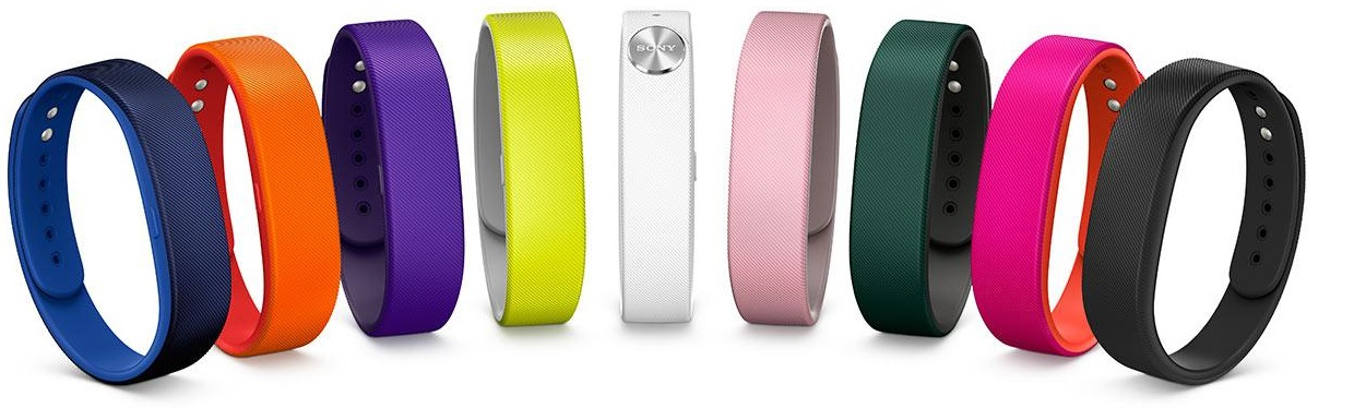 9 Colors of Sony SmartBand SWR10