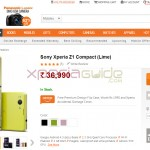 Xperia Z1 Compact officially available in India at price INR 36990 – Buy from Infibeam and Snapdeal Stores
