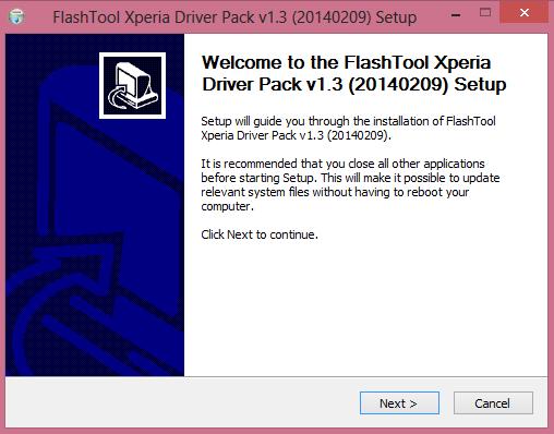 FlashTool Xperia Driver Pack v1.3