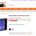 Pre-Order Xperia T2 Ultra Dual in India at price INR 32000