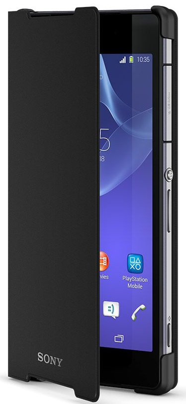 SCR10 Xperia Z2 Black Style Cover