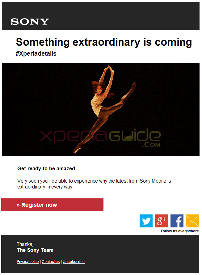 Something extraordinary is coming form Sony at MWC 2014