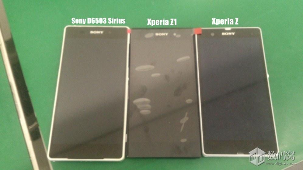 Sony D6503 Sirius vs Xperia Z1 vs Xperia Z Real Pics Comparison