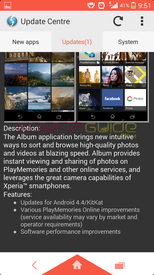Xperia Album App 5.4.A.0.20 update Changelog