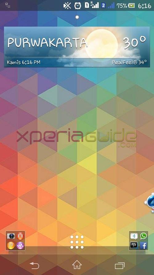 Xperia C TriFlat Theme HomeScreen
