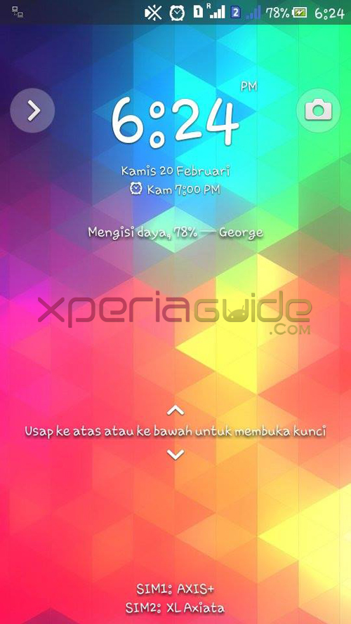 Xperia C TriFlat Theme