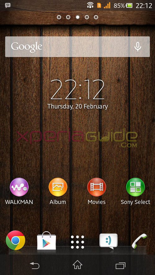 Xperia C Woody Theme