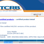 Xperia E1 Dual D2104 first 20.0.B.0.68 firmware certified on PTCRB