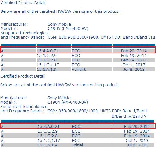 Xperia M 15.4.A.0.21 firmware