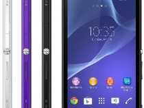 Xperia M2 Purple black White colors