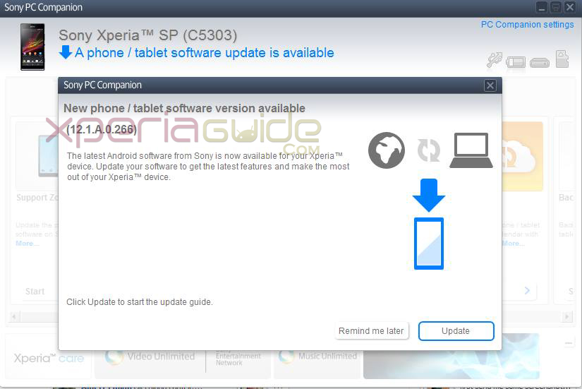 Xperia SP 12.1.A.0.266 firmware update