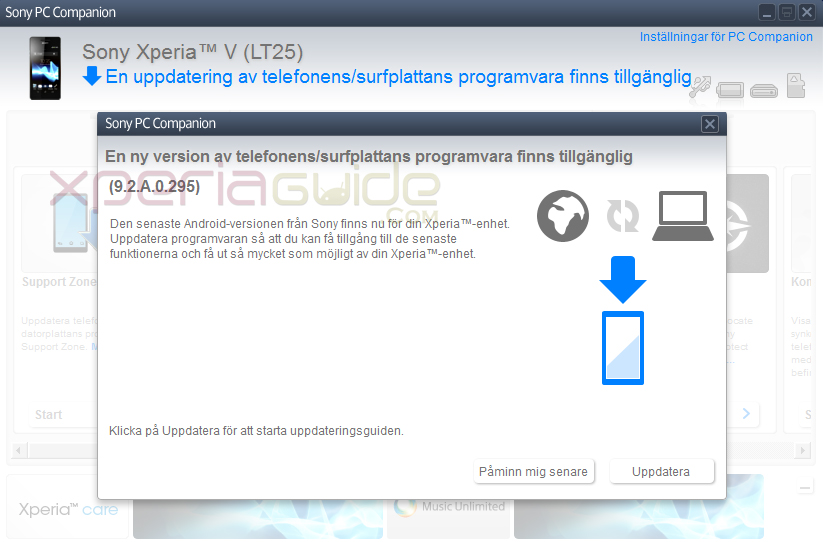 Xperia V Android 4.3 9.2.A.0.295