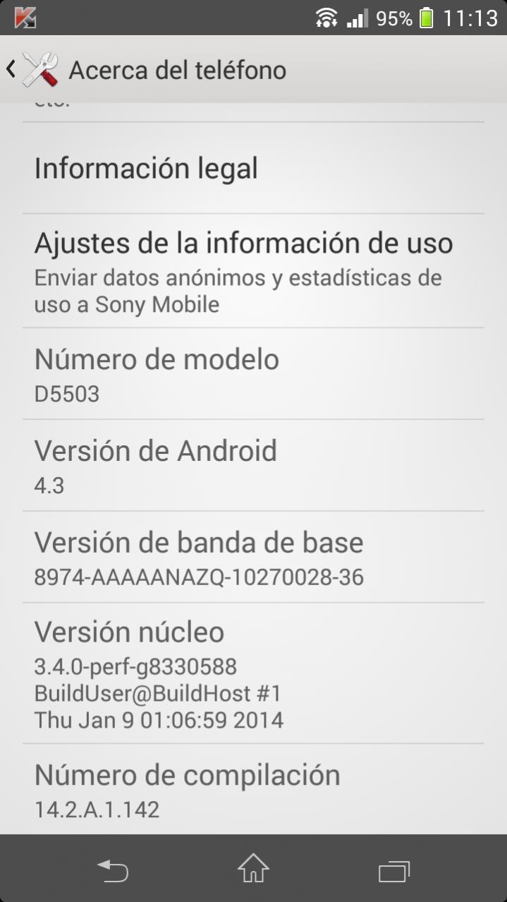 Xperia Z1 Compact 14.2.A.1.142 firmware update