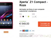 Xperia Z1 Compact shipping in Netherlands