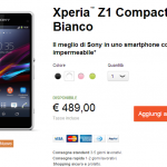 Xperia Z1 Compact shipping in France, Italy, Spain officially from Sony Online Stores