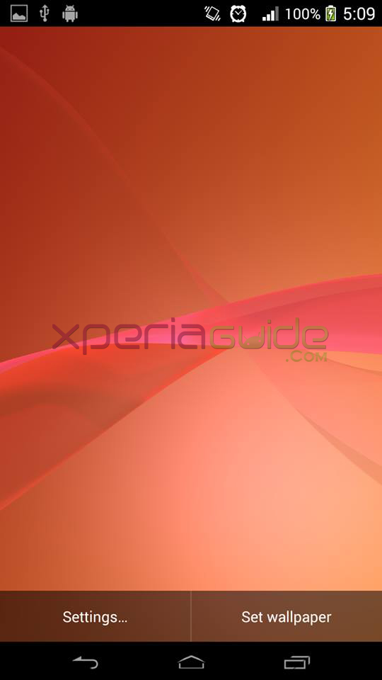 Xperia Z2 Live Wallpaper Orange