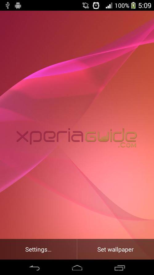 Xperia Z2 Live Wallpaper Pink