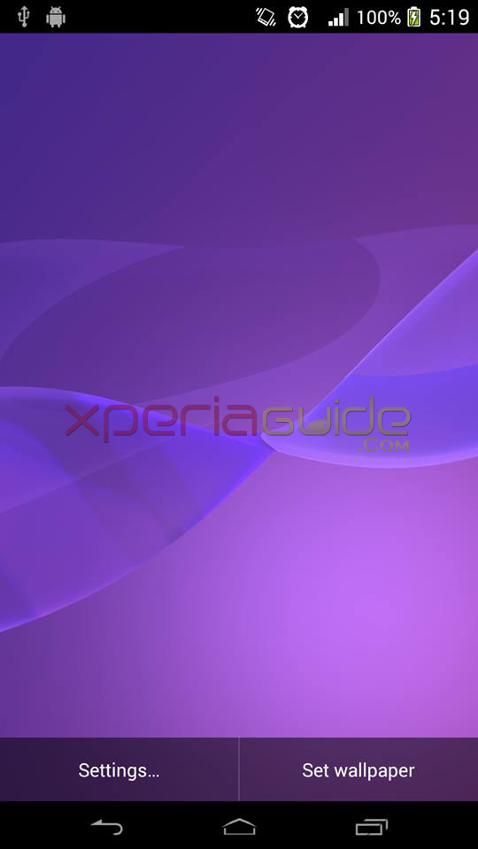 Xperia Z2 Live Wallpaper Purple