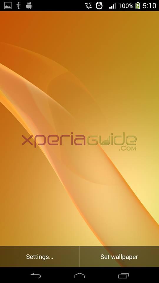 Xperia Z2 Live Wallpaper Yellow