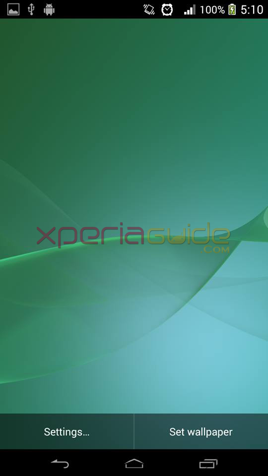 Xperia Z2 Live Wallpaper GreenXperia Wallpaper Green