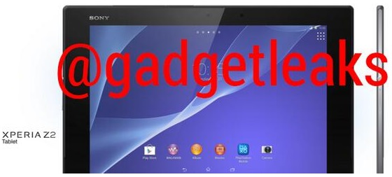 Xperia Z2 Tablet Leaked Pics