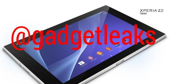 Xperia Z2 Tablet Leaked Press Renders
