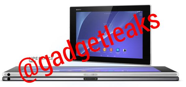 Xperia Z2 Tablet Leaked