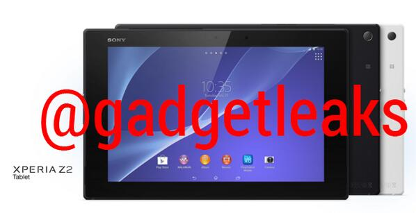 Xperia Z2 Tablet White Pic Leaked