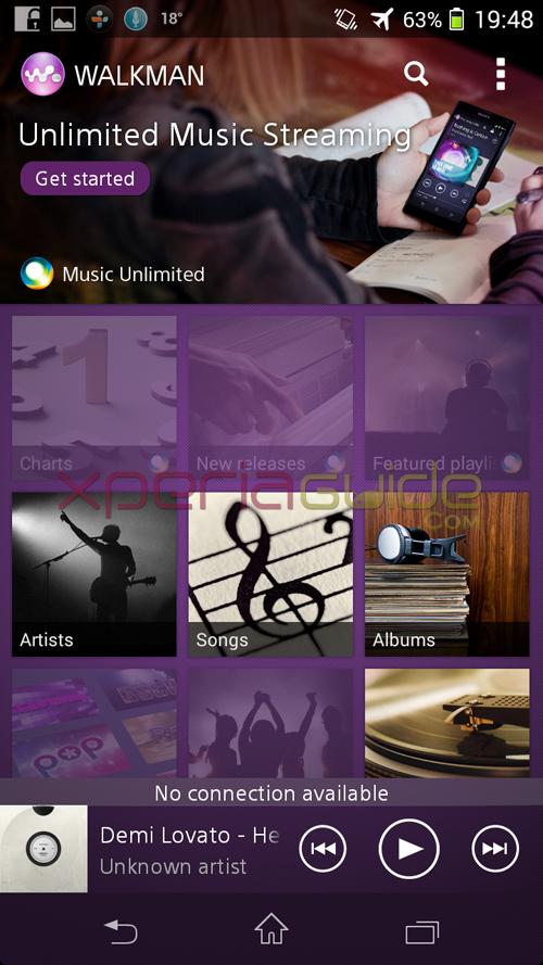Media Apps of Xperia SP 12.1.A.0.266