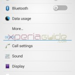 Settings menu of Xperia SP 12.1.A.0.266