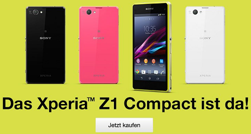 Buy Xperia Z1 in Germany
