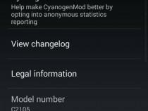 CyanogenMod 11 Xperia L