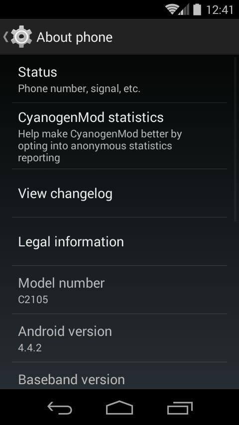 Xperia L CyanogenMod 11 ROM