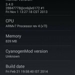 Xperia L CyanogenMod 11 About Phone