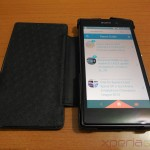 [ REVIEW ] Xperia Z1 Leather Flip Case from Noreve