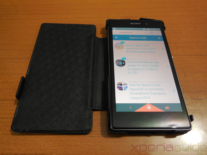 Xperia Z1 Leather Flip Case from Noreve