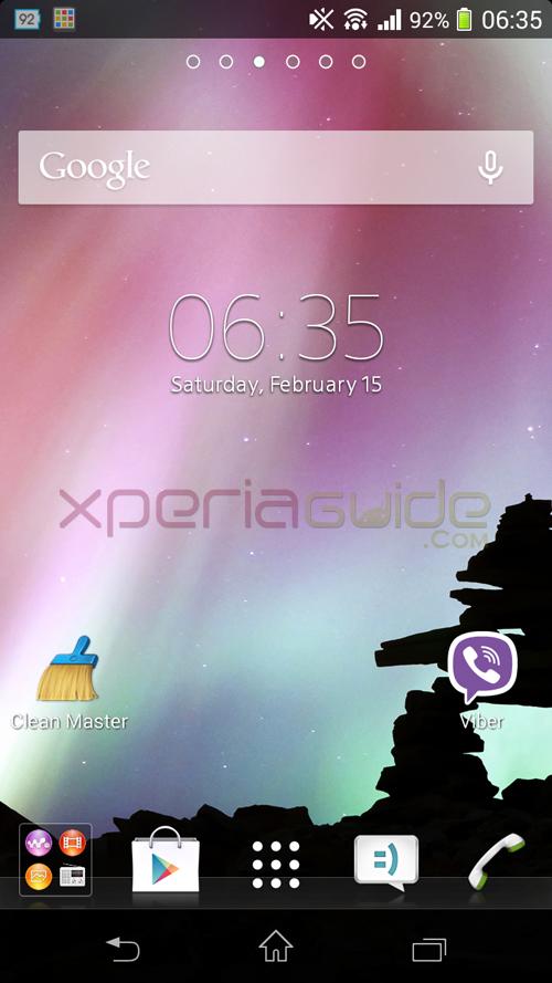 Xperia TX Home Screen 9.2.A.0.295 firmware