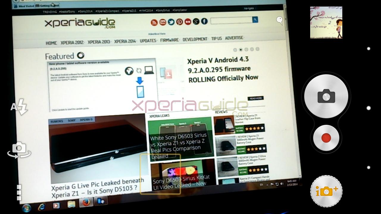 Xperia TX Camera app 9.2.A.0.295 firmware