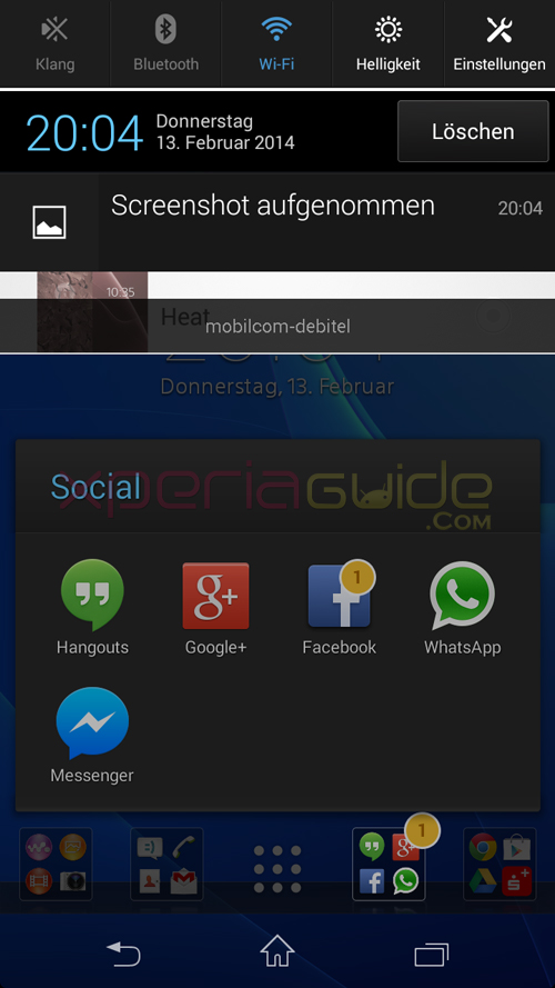 Xperia T Notification Panel 9.2.A.0.295 firmware