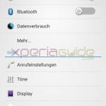 Xperia T Settings menu 9.2.A.0.295 firmware