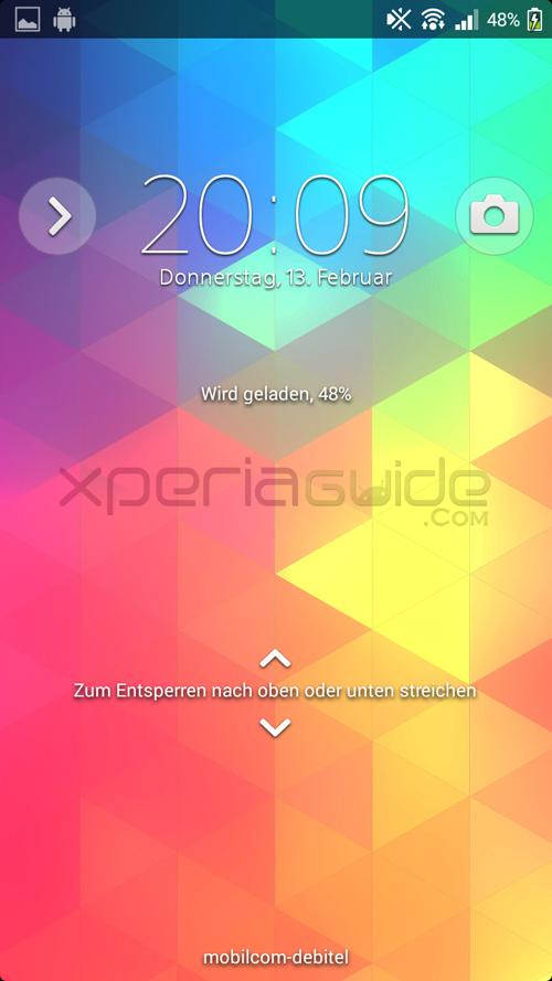 Xperia T Lockscreen 9.2.A.0.295 firmware