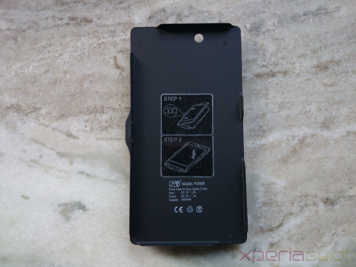Xperia Z Ultra 4000mAh Mugen Power Battery Case