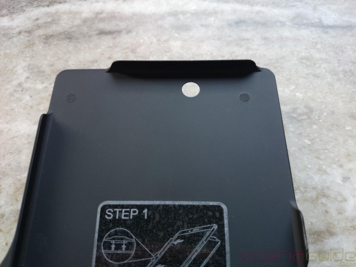 Camera opening in Xperia Z Ultra Mugen Power Battery Case 4000mAh