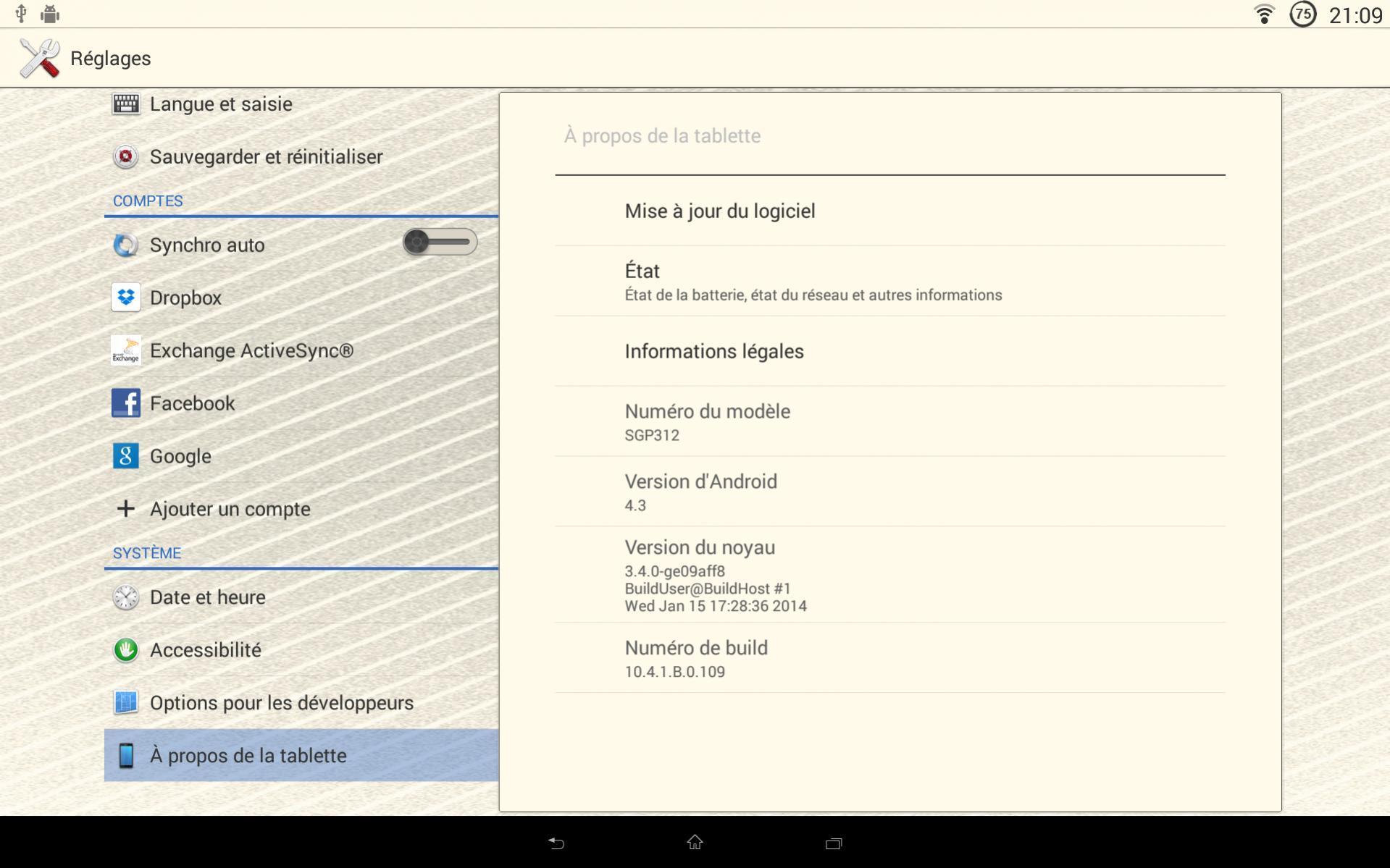 10.4.1.B.0.109 firmware Xperia Tablet Z