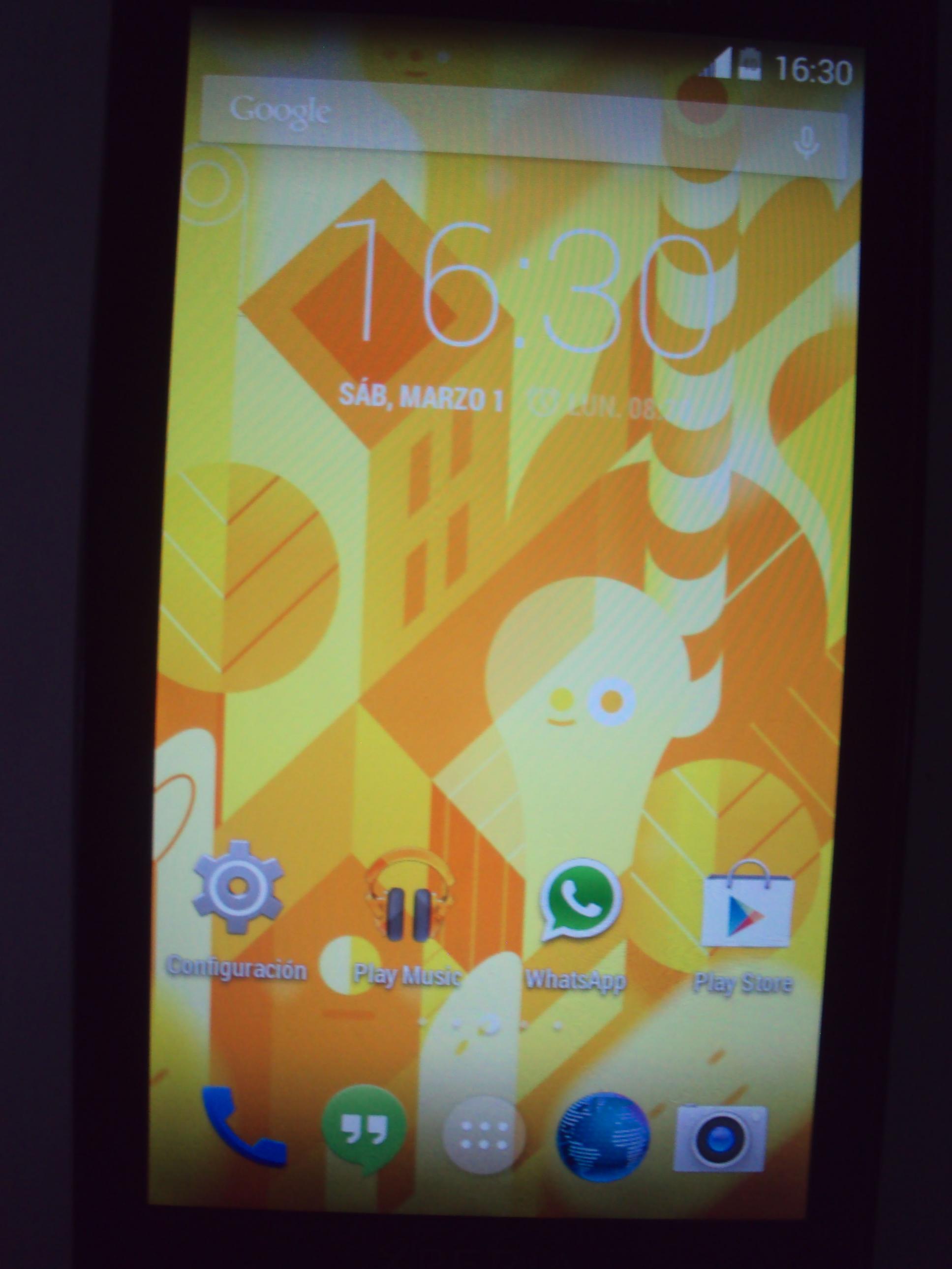 Xperia X10 KitKat Homescreen