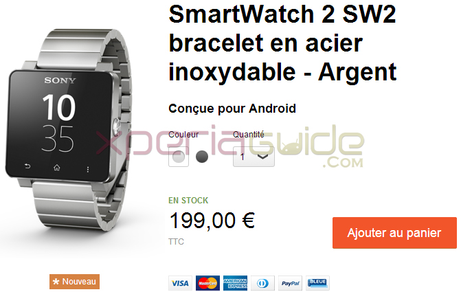 SmartWatch 2 Silver Wristband France Price