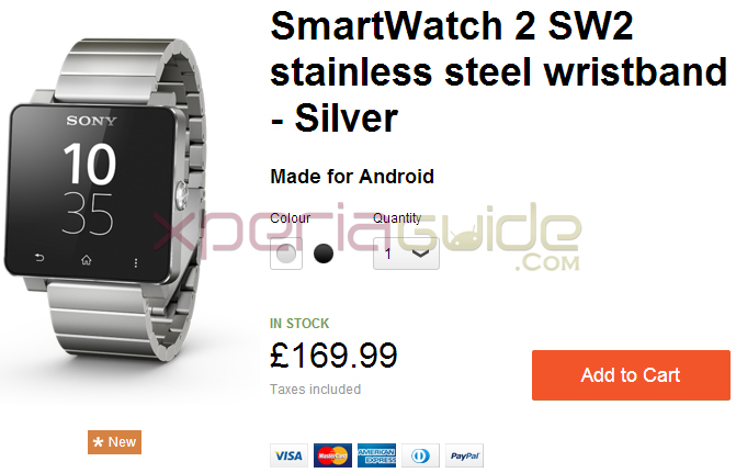 Sony SmartWatch 2 Silver wristband Price in UK