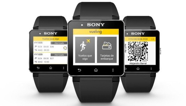 Vueling wearable boarding pass Sony app