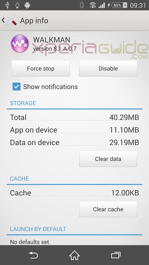 Walkman 8.1.A.0.7 App